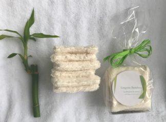 Lingettes lavables en bambou pour les yex