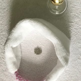 Bandeau blanc et rose